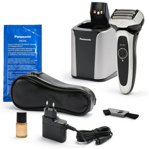 Panasonic ES-LV95-S Arc5 Wet-Dry Shaver with Cleaning and Charging System