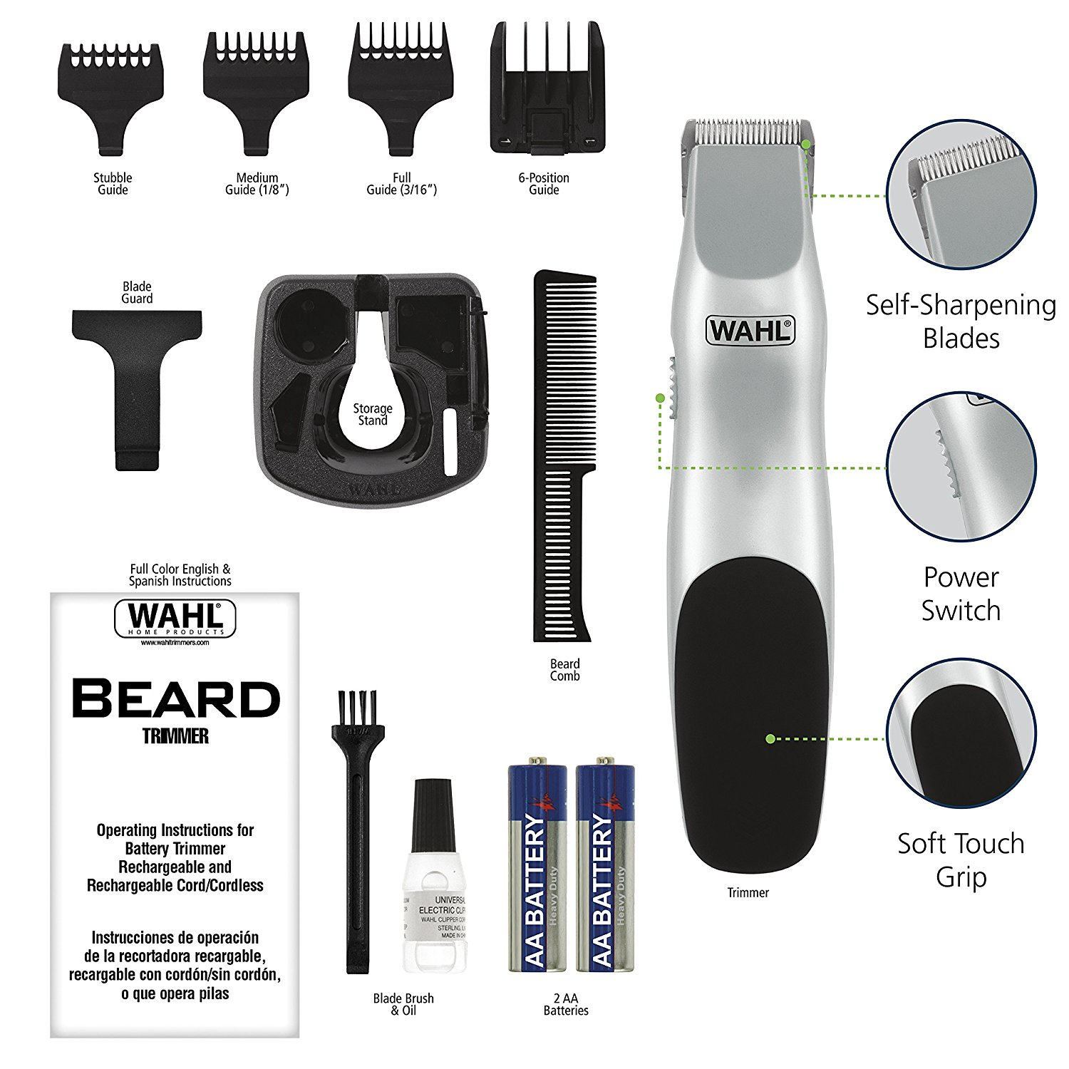 wahl beard battery trimmer 9906 717 product review. Black Bedroom Furniture Sets. Home Design Ideas