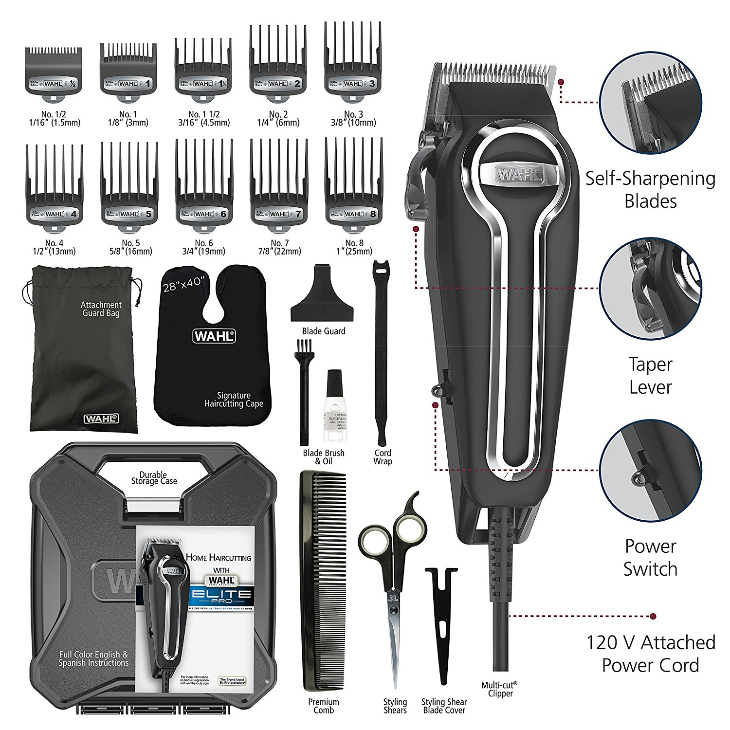 professional haircut kit wahl elite pro high performance haircut kit 79602 3771